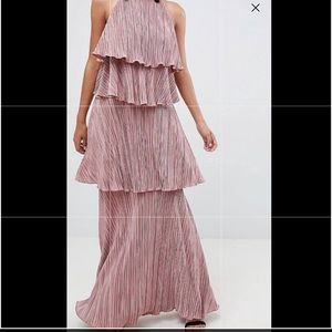 Pleated ASOS long dress like new